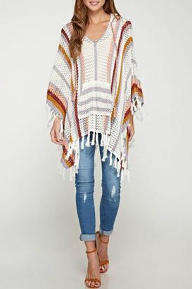 Lovestitch Breezy Crochet Poncho $72 thestylecure.com