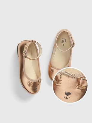 Gap Toddler Metallic Brannan Bear Ballet Flats