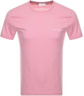 Calvin Klein Small Logo T Shirt Pink