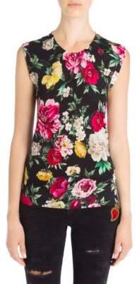 Dolce & Gabbana Silk Floral Print Tank