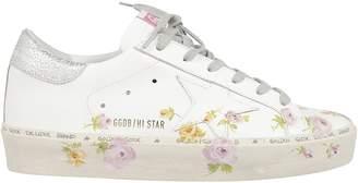 Golden Goose Floral Print Sneakers