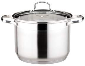 Strauss Josef Le Stock Pot 29.5 Quart Stockpot   Tempered Glass Lid, Induction Compatible, Oven and Dishwasher Safe, 18/10 Stainless Steel Construction, For Brewing, Canning, and Commercial Kitchens