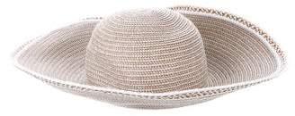 Eric Javits Metallic Wide-Brim Hat