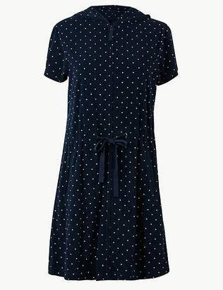 Marks and Spencer Terry Dotted Zip-up Short Dressing Gown