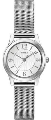 Timex Women's Casey Dress Watch, Silver-Tone Stainless Steel Mesh Bracelet
