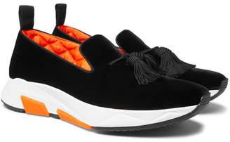 Tom Ford Tuner Tasselled Velvet Slip-On Sneakers