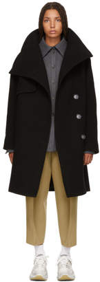 Acne Studios Black Asymmetrical Button Coat