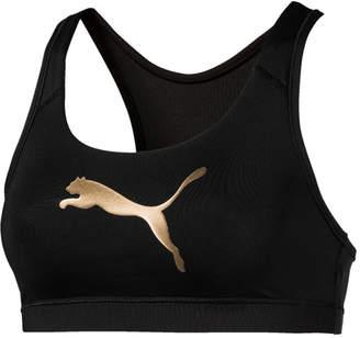 Puma 4Keeps Metallic-Logo Mid-Impact Sports Bra