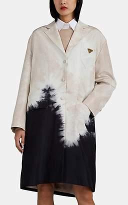 Prada Women's Tie-Dyed Silk Faille Trench Coat