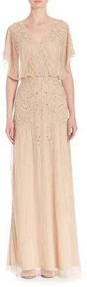 Aidan Mattox - Embellished V-Neck Dress 54468630 $890 thestylecure.com
