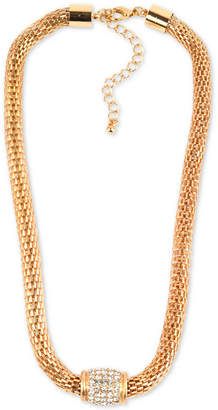 """Charter Club Gold-Tone Pavé Collar Necklace, 18-1/2"""" + 3"""" extender, Created for Macy's"""