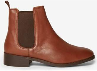 Dorothy Perkins Womens Tan 'Axel' Leather Chelsea Boots