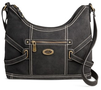 Bolo Women's Faux Leather Crossbody Saddle Handbag with Zip Closure $39.99 thestylecure.com