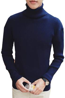 CFD Men's Classic Slim Fit Turtleneck Pullover Thermal Sweaters S