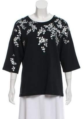 Dries Van Noten Painted Short Sleeve Sweatshirt