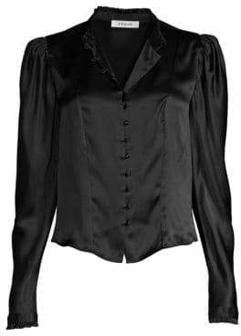 Frame Victorian Silk Blouse