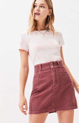 PacSun Corduroy Double Button Skirt