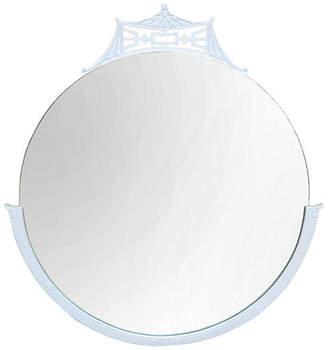 One Kings Lane Vintage White Chinoiserie Round Pagoda Mirror - AGAIN KatharineLake