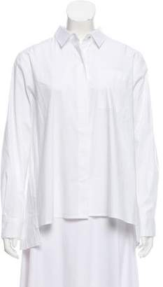 DKNY Poplin Button-Up Top w/ Tags