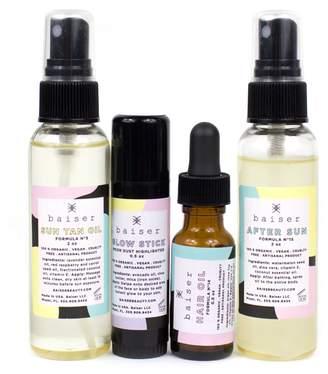 """Baiser Beauty Sun Tan Oil, Glow Stick, Hair Oil & After Sun """"Summer Collection Set"""""""