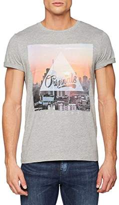 Jack and Jones Men's Jorautumn City Tee Ss Crew Neck2 T-Shirt
