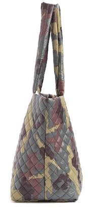Do Everything in Love Quilted Nylon Camo Print Large Tote Bag