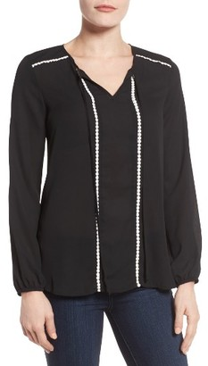 Women's Bobeau Mixed Media Top $59 thestylecure.com