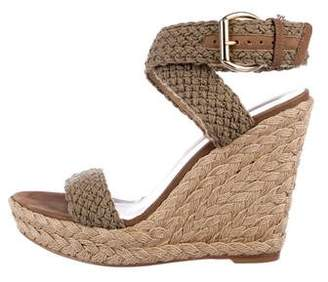 Stuart Weitzman Woven Wrap-Around Wedges