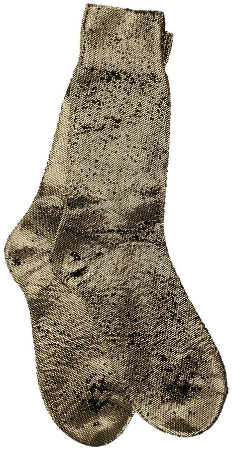 Ann DemeulemeesterAnn Demeulemeester metallic effect socks