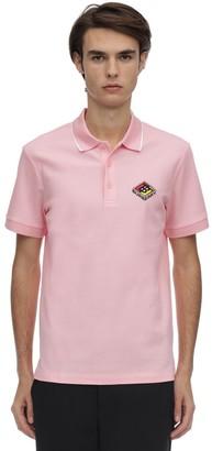 Burberry Logo Patch Cotton Pique Polo
