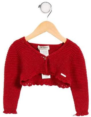 Carrera Pili Girls' Open Knit Cropped Cardigan