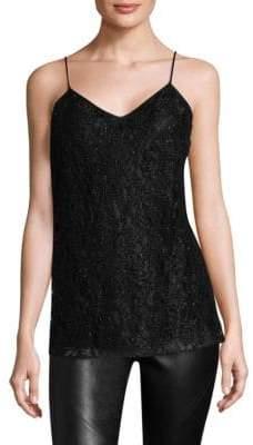 Lafayette 148 New York Beaded Lace Silk Camisole
