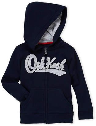 Osh Kosh B'gosh (Toddler Boys) Navy Logo Zip-Up Hoodie