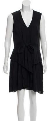 L'Agence Sleeveless Mini Dress Black Sleeveless Mini Dress