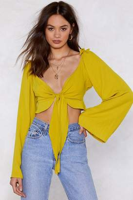Nasty Gal Dreams Cropped Blouse