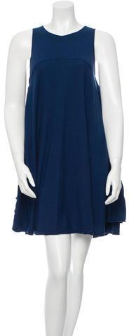 Miu MiuMiu Miu Sleeveless Ruffle-Accented Dress