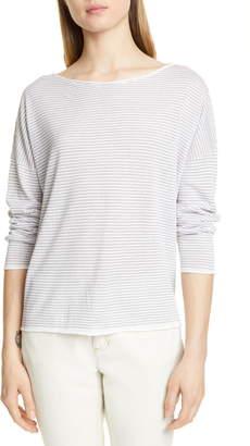 Eileen Fisher Stripe Linen & Cotton Top