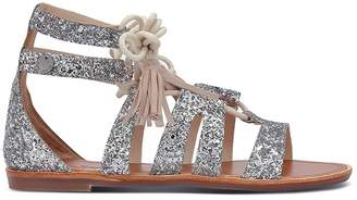 Pepe Jeans Arizona Lace Sequined Gladiator Sandals