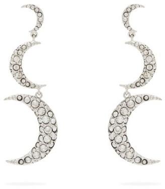Isabel Marant Crescent Moon Crystal Embellished Drop Earrings - Womens - Crystal