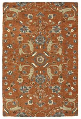 Fischer Charlton Home Hand-Tufted Paprika Area Rug