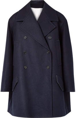 Calvin Klein Double-breasted Wool-felt Coat - Midnight blue