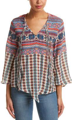 Tolani Ariya Bell Sleeve Silk Top