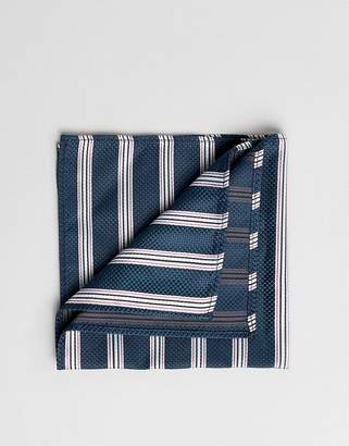 Asos DESIGN striped pocket square in green