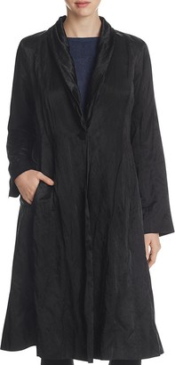 Eileen Fisher Shawl Collar Crinkle Coat $498 thestylecure.com