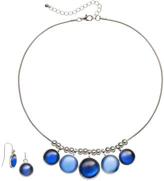 Cabochon Necklace & Drop Earring Set
