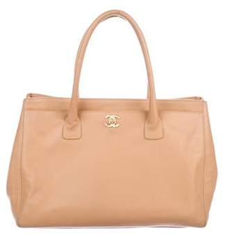 Chanel Leather Cerf Tote w/ Strap beige Leather Cerf Tote w/ Strap