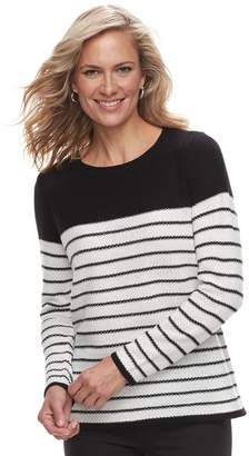 Croft & Barrow Women's Textured Crewneck Sweater
