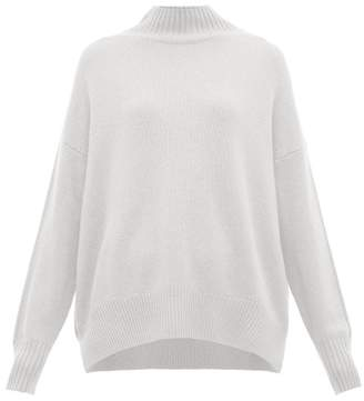 Allude Funnel Neck Cashmere Sweater - Womens - Light Blue