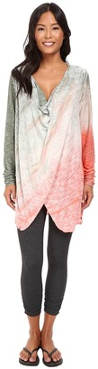 Hard Tail - Long Sleeve Drape Neck Tunic Women's Clothing $95 thestylecure.com