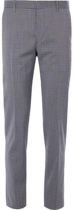 Prada Slim-Fit Gingham Stretch-Wool Trousers